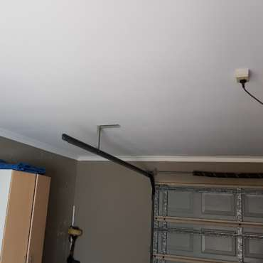 Garage ceiling after repair