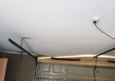 Garage ceiling before
