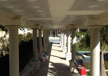 Walkway ceiling after