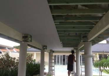 Walkway ceiling before